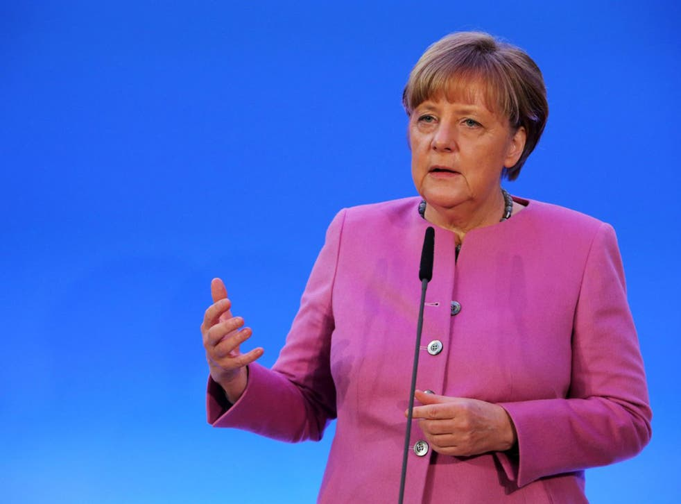 Angela Merkel has rejected calls for the closure of Germany's borders with Berlin Wall-style defences (