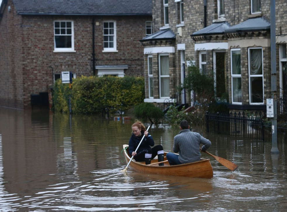 Flooding in York, where the council is under pressure from the Government to fast-track shale gas exploitation