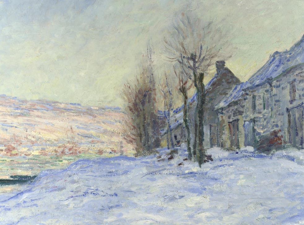 The collection is made up of priceless impressionist masterpieces, like Monet's 'Lavacourt Under Snow'