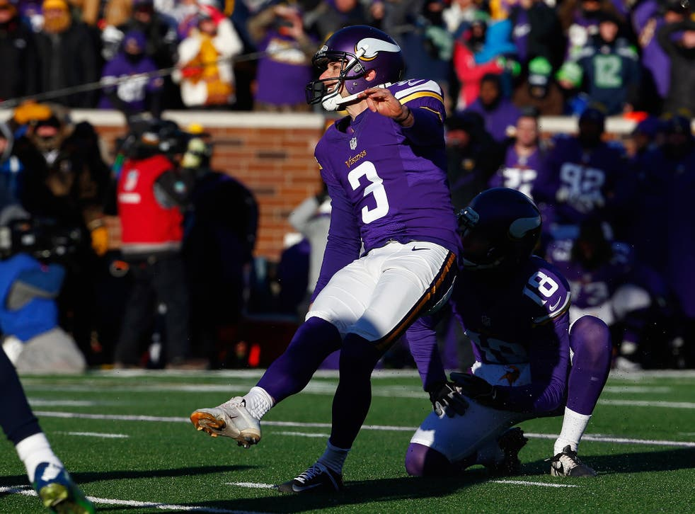 Blair Walsh's missed 27-yard field goal cost the Minnesota Vikings victory over the Seattle Seahawks