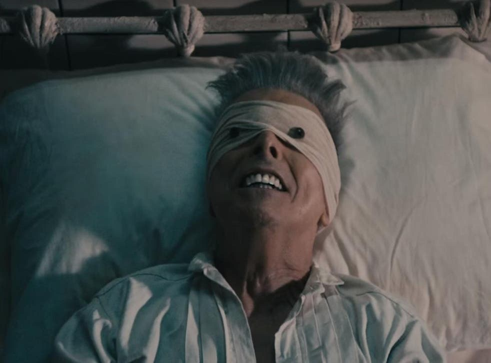 A still from the music video for 'Lazarus'