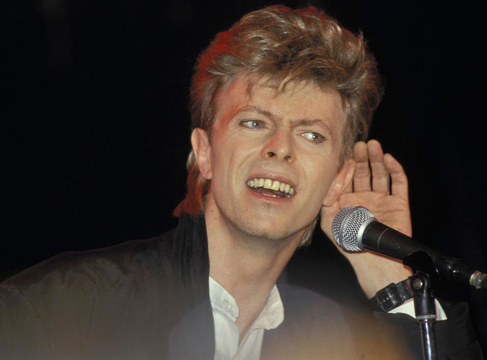 David Bowie performs at Sydney Entertainment Centre during his Glass Spider tour in 1987