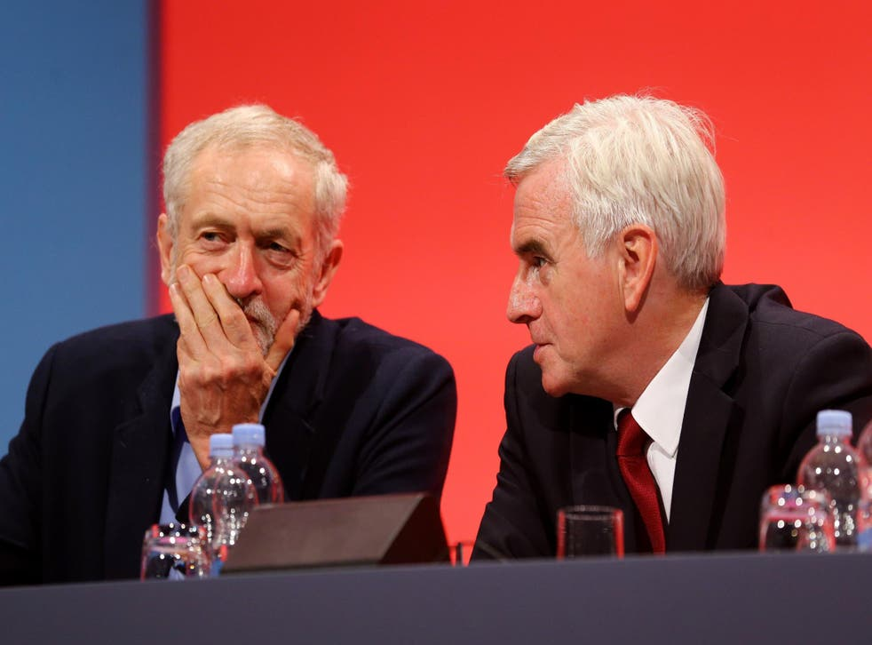 Jeremy Corbyn and John McDonnell, his Shadow Chancellor and close friend