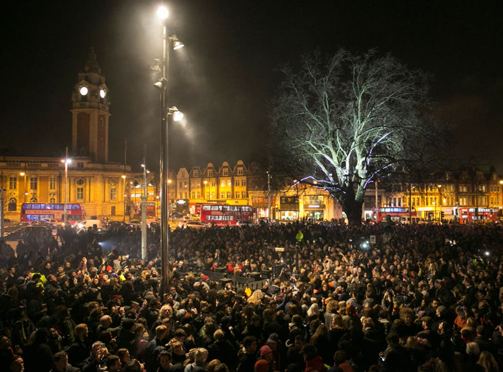 Brixton - where thousands gathered for a party earlier this year to celebrate the life of David Bowie