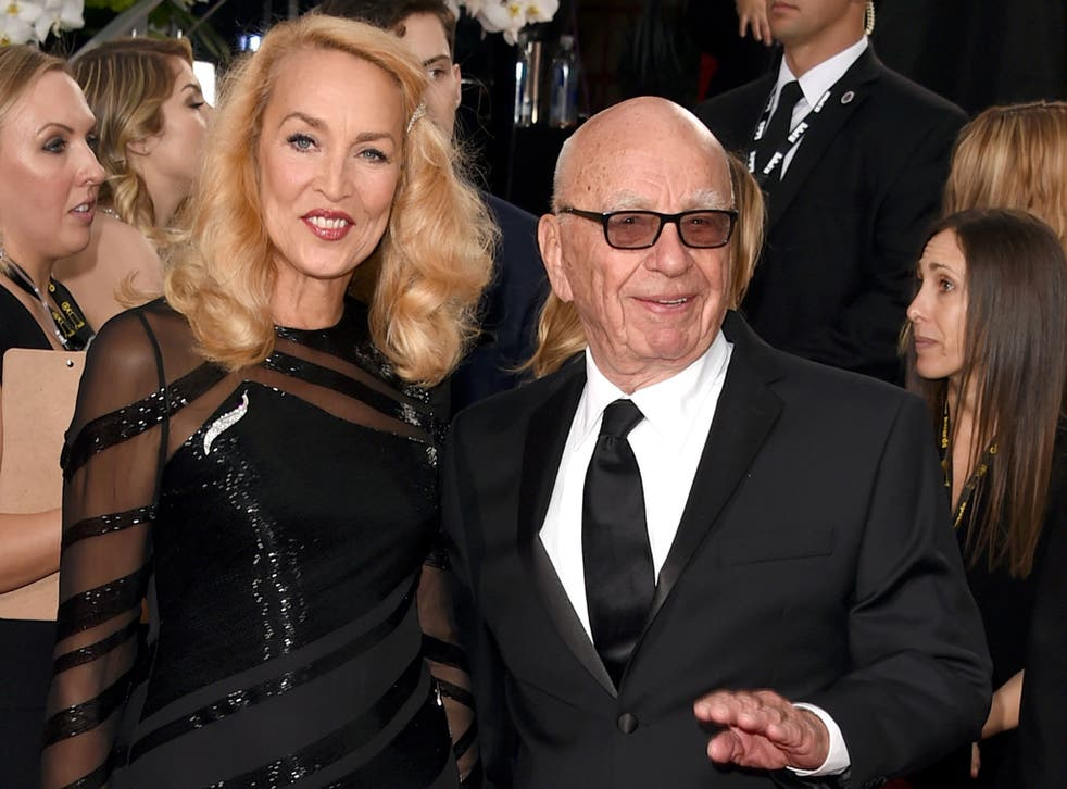 Hall and Murdoch at the Golden Globes in Beverly Hills this weekend