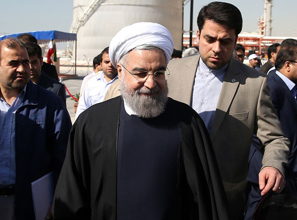 President Rouhani said: 'We are hopeful that the sanctions against Iran would be lifted in the next few days'