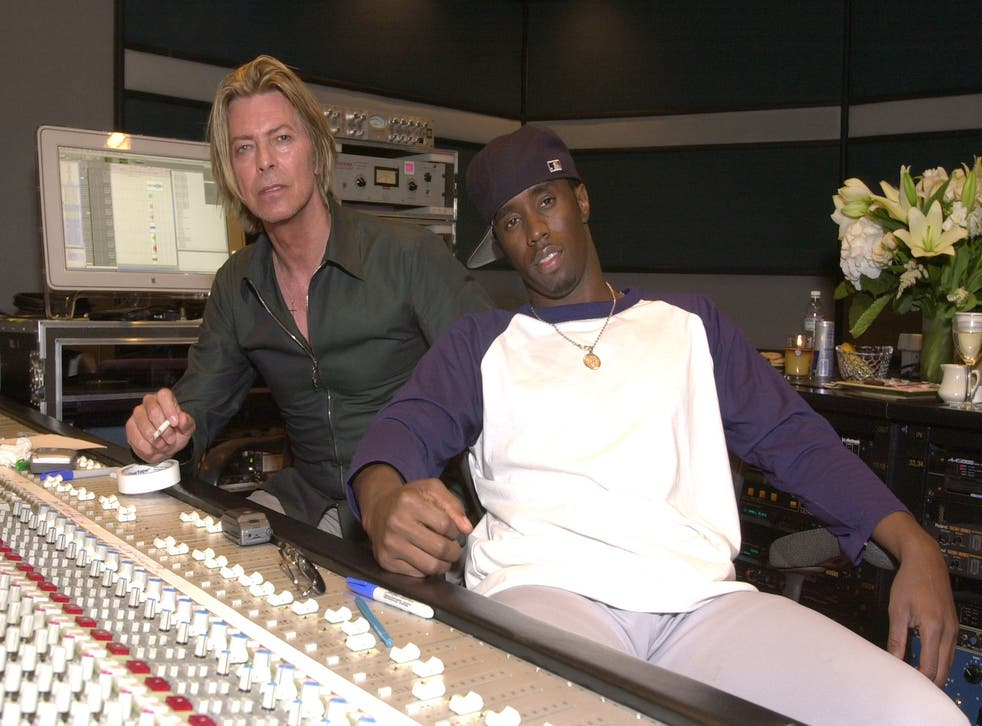 Yes, that's David Bowie with P Diddy, formerly known as Puff Daddy.