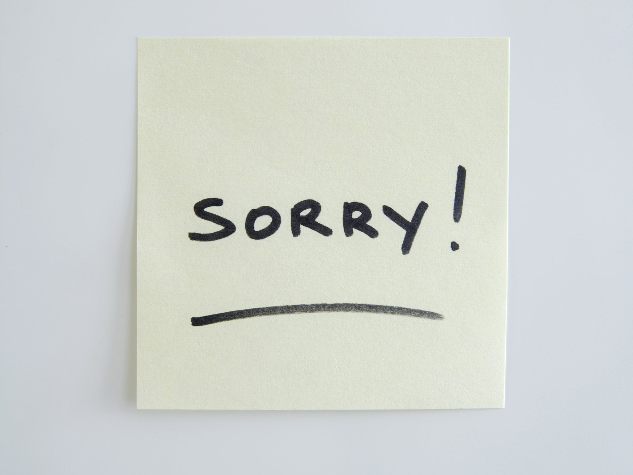 13 times you shouldn't say 'I'm sorry' at work | The Independent | The  Independent