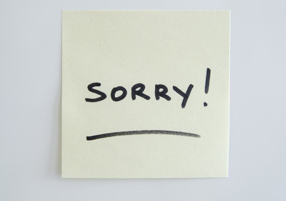 13 times you shouldnt say im sorry at work the independent is saying sorry a sign of weakness thecheapjerseys Gallery
