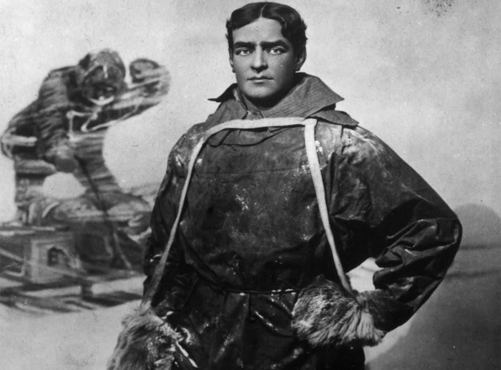 Irish Antarctic explorer Sir Ernest Shackleton in 1908