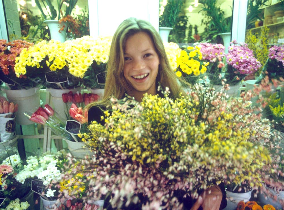 Blossoming talent: Kate Moss in Paris in 1993