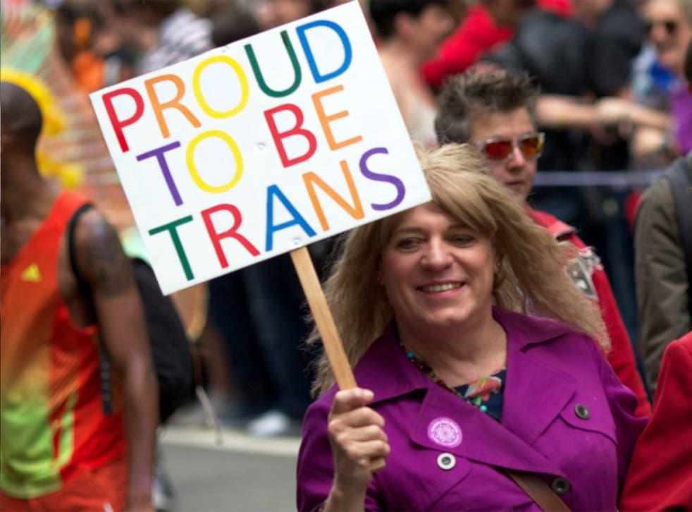 A trans woman makes her feelings clear on a London Pride march