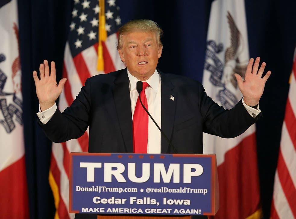 Trump rallying in Iowa on January 12