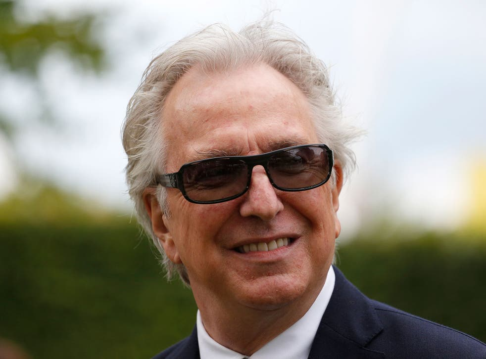 Alan Rickman pictured at the Goodwood Festival, July 2015