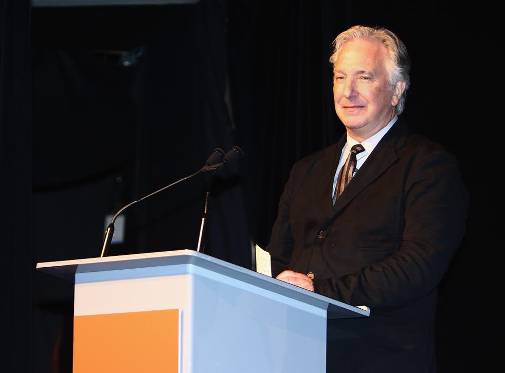 Director/actor Alan Rickman speaks onstage at the 'A Little Chaos' premiere introduction during the 2014 Toronto International Film Festival at Roy Thomson Hall on September 13, 2014 in Toronto, Canada