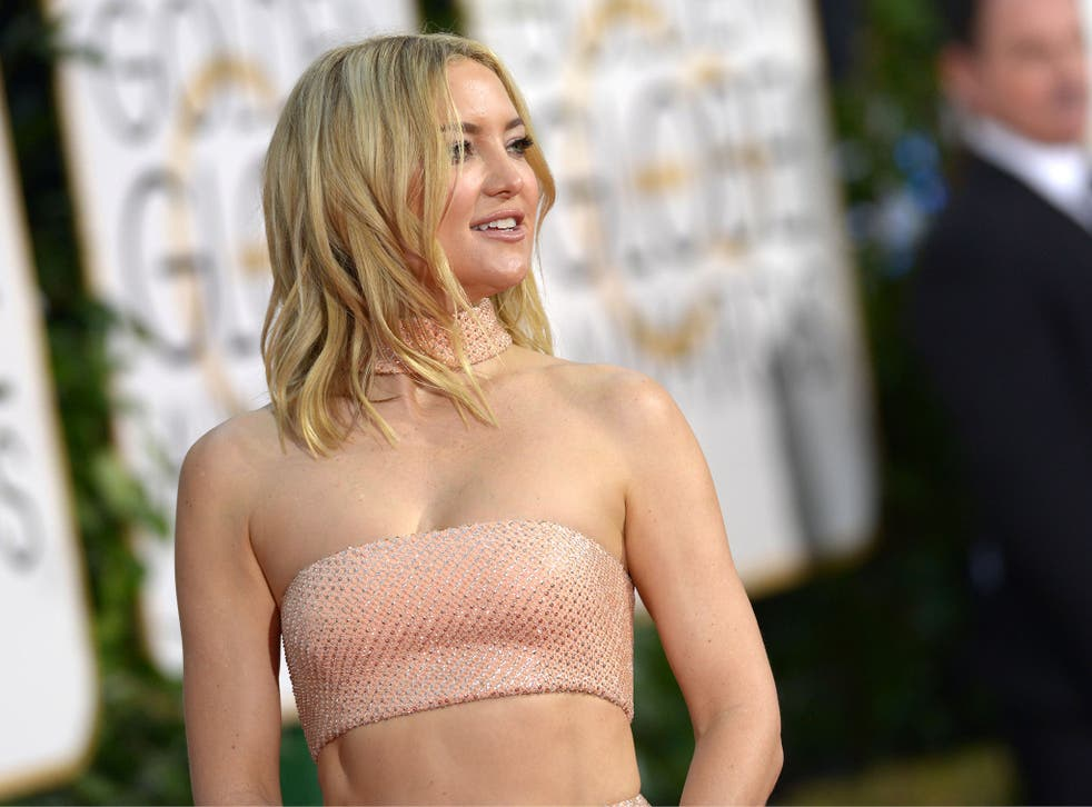 Actress Kate Hudson on the red carpet at the 73rd  Golden Globe awards this month