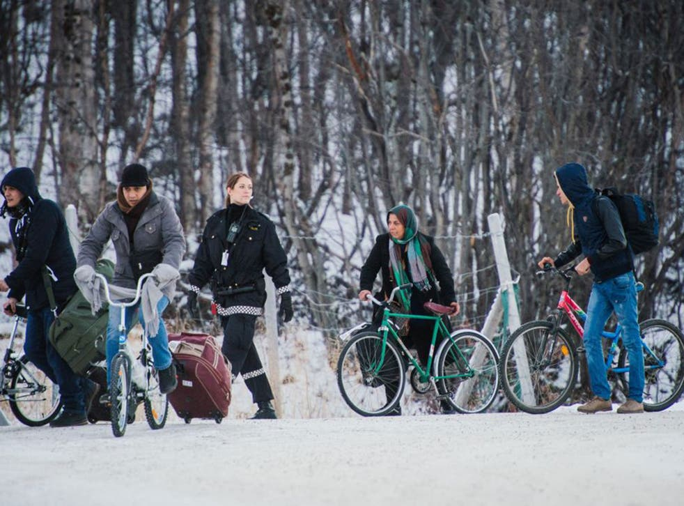 Most of the refugees using bicycles to cross the border at Storskog are originally from Syria