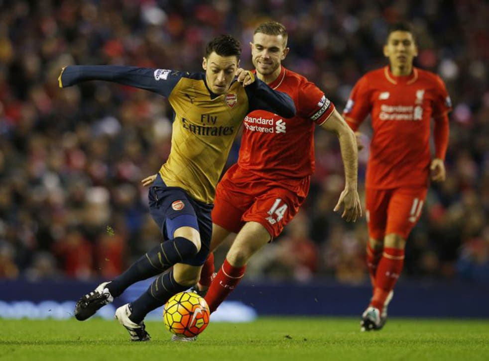 Mesut Özil was a key performer for Arsenal at Anfield