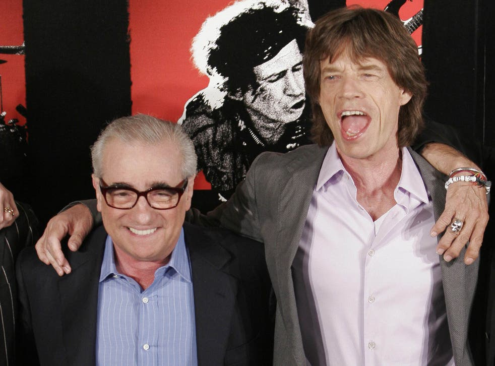 Mick Jagger and director Martin Scorsese