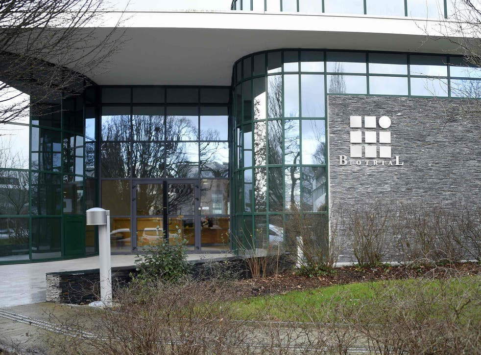 Biotrial laboratory building in Rennes where a clinical trial of an oral medication left one person brain-dead and five hospitalised