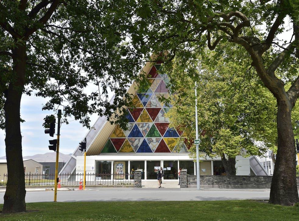 "Christchurch's ""Cardboard Cathedral"", designed by award-winning Japanese architect Shigeru Ban"