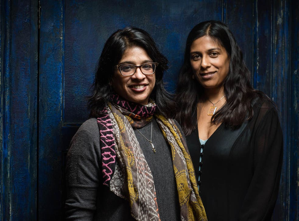 Playwright Lolita Chakrabarti and director Indhu Rubasingham  in rehearsals for their hit play Red Velvet