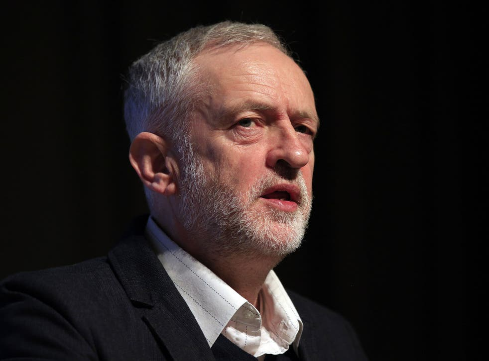 Jeremy Corbyn speaks at the Fabian Society conference