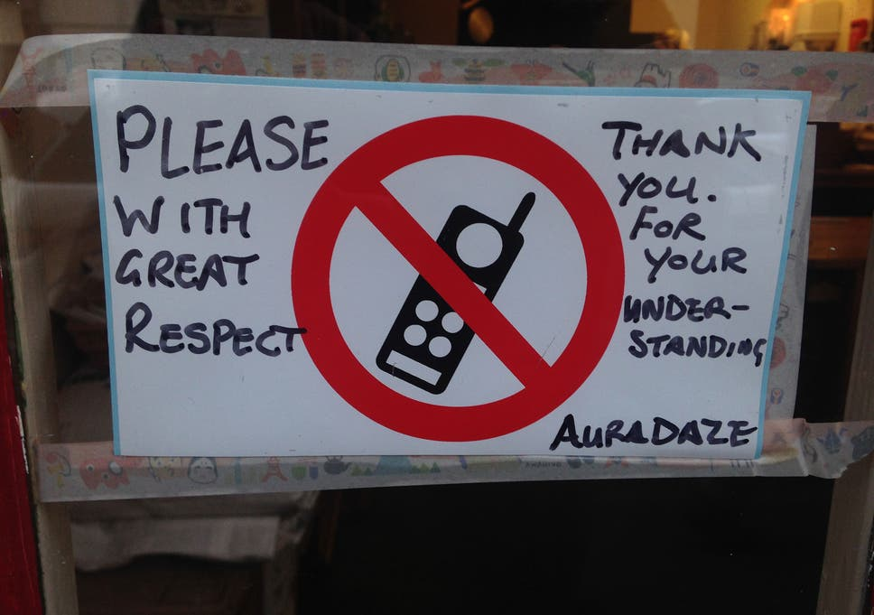 The Restaurant Thats Banned Mobile Phones The Independent