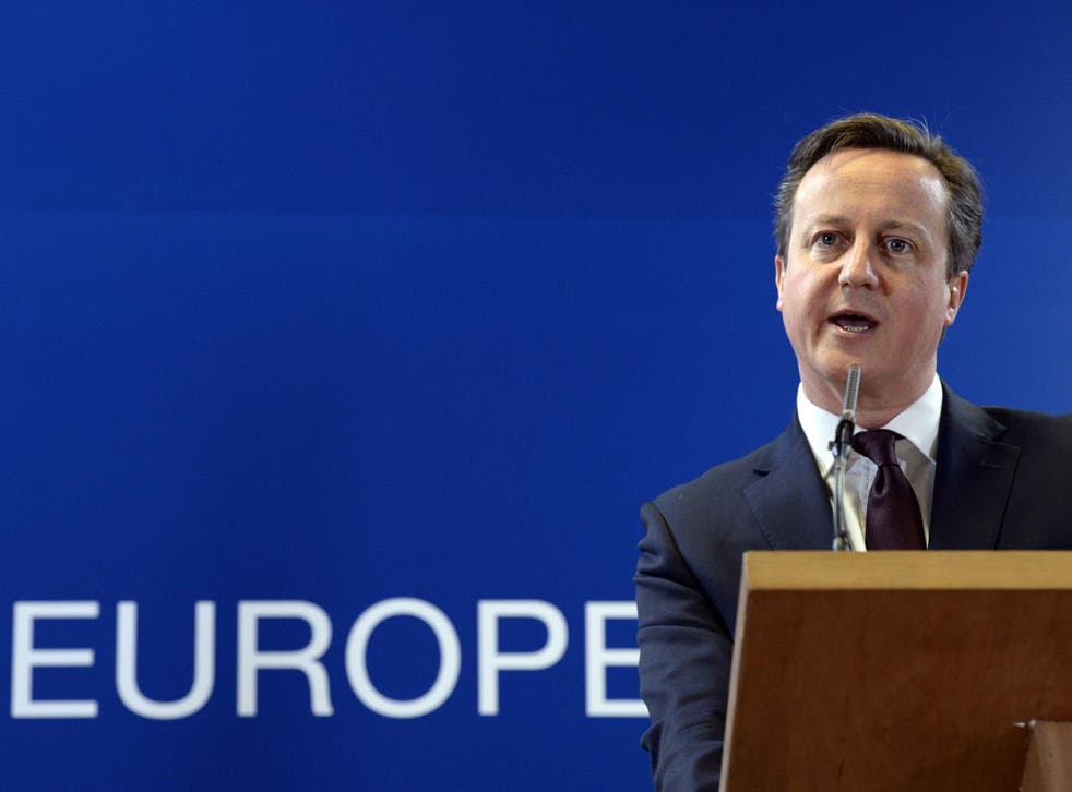 Cameron said he would campaign to keep the UK in the European Union
