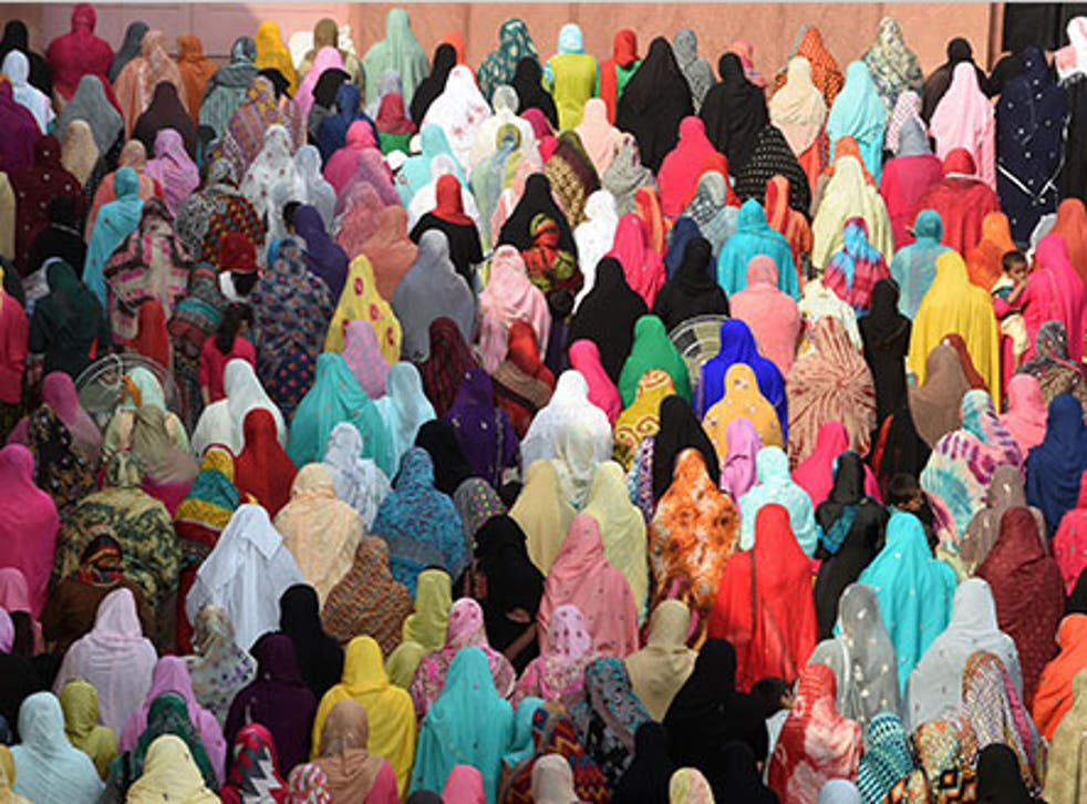 Muslims gather to pray during the holy festivities, but this year Muslims will 'need to be alert'