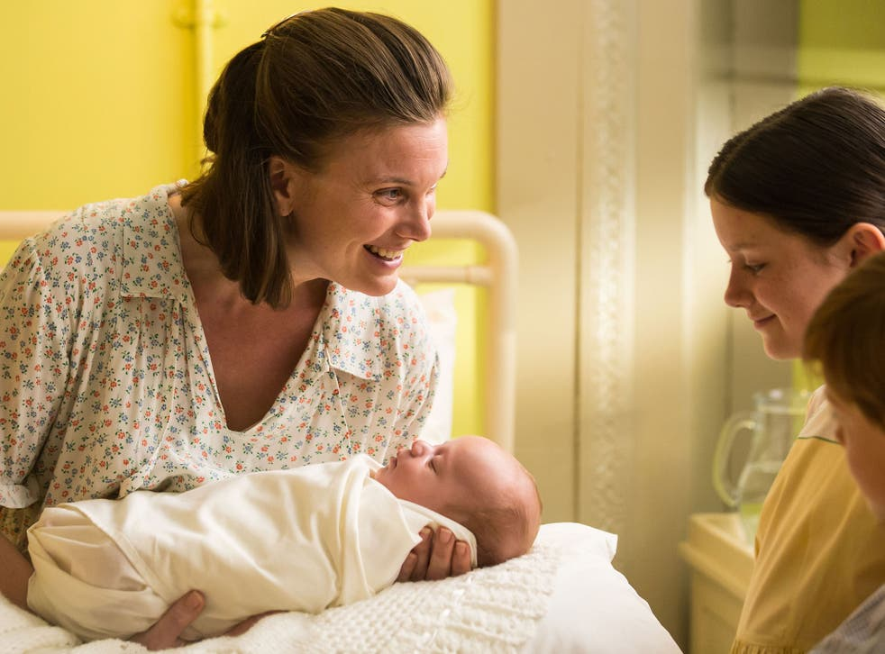 Gut-churningly twee: 'Call the Midwife' features Liz White as new mother Rhoda Mullucks