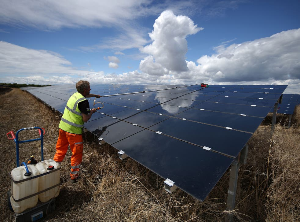 The Government cut its support for household solar panels by 65 per cent