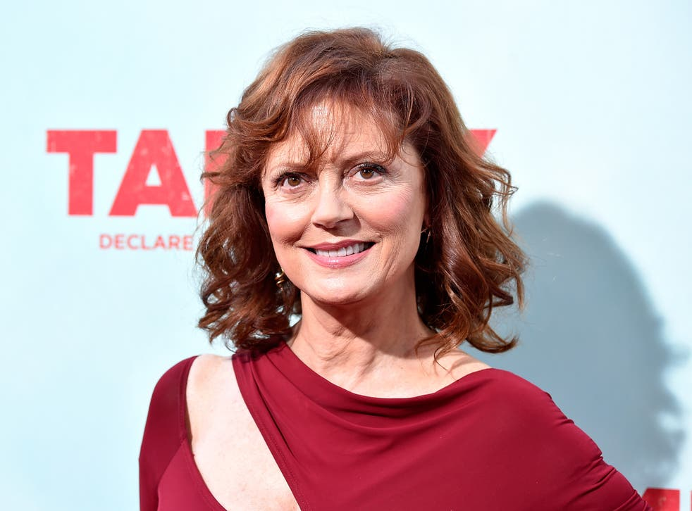 Ms Sarandon has embraced 'Throwback Thursday' with style and humour