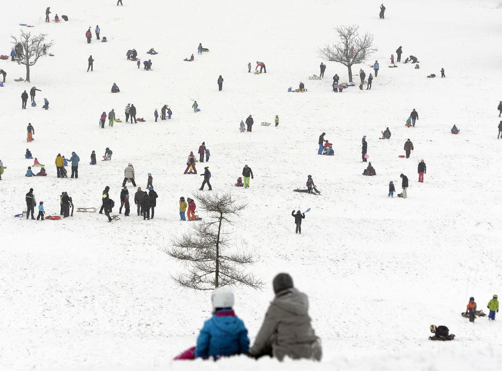 The two Afghan asylum seekers had been sledging in the snow in Altenberg
