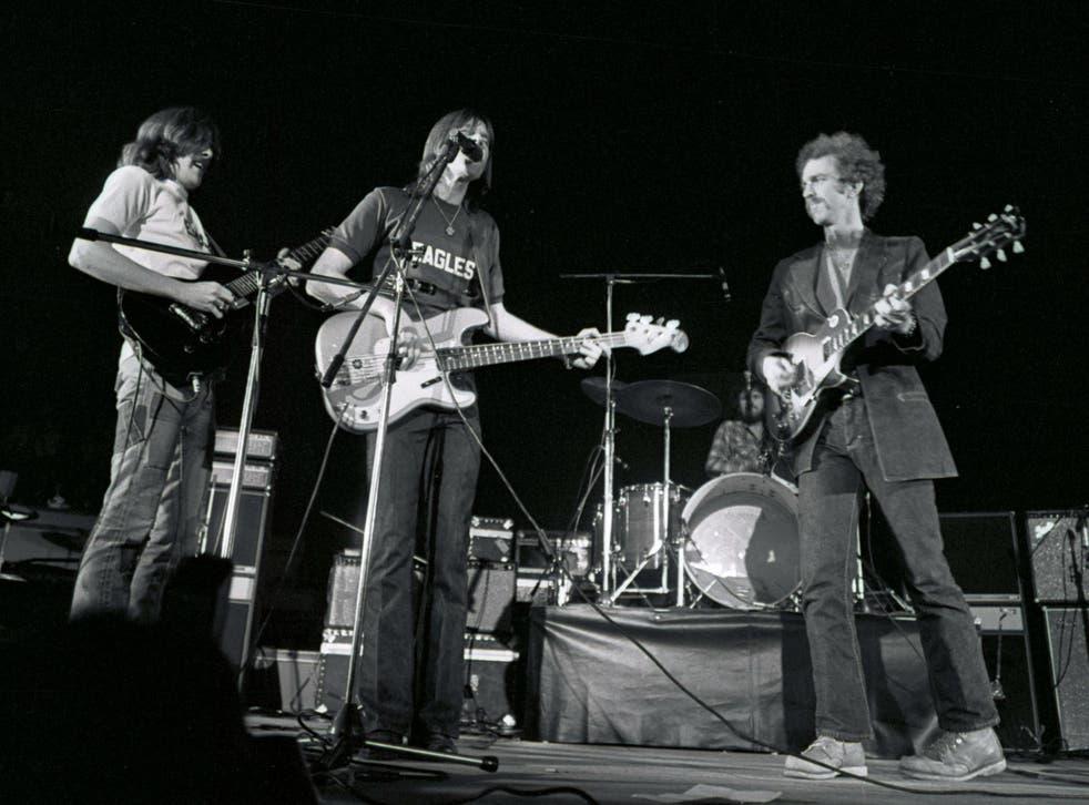 Glenn Frey, Randy Meisner, Bernie Leadon playing live in 1972