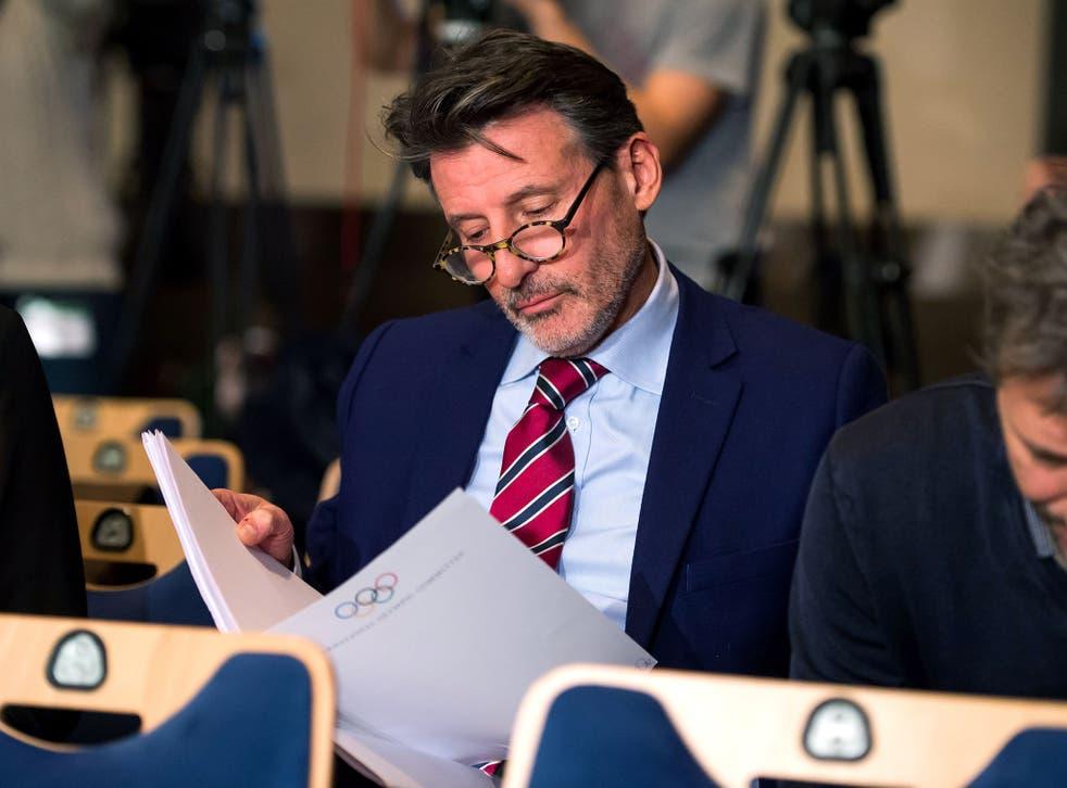 IAAF president Sebastian Coe