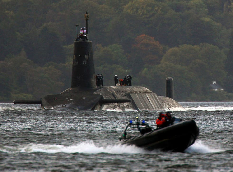 Faslane, on the River Clyde, is the home of Britain's fleet of Trident nuclear submarines