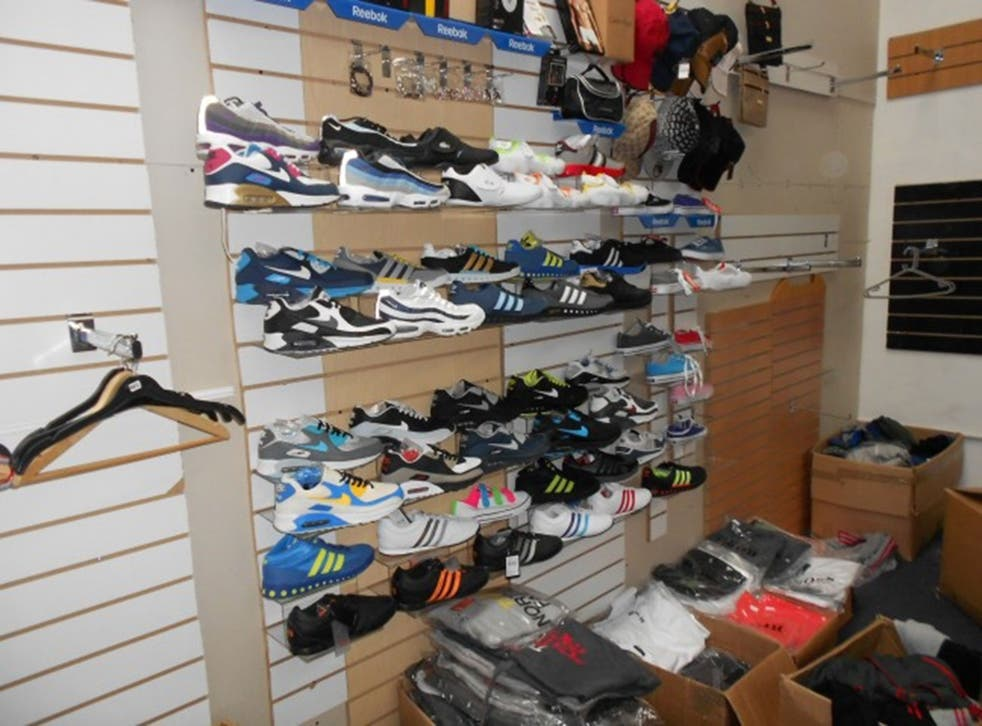 Goods seized by Greater Manchester Police in Cheetham Hill