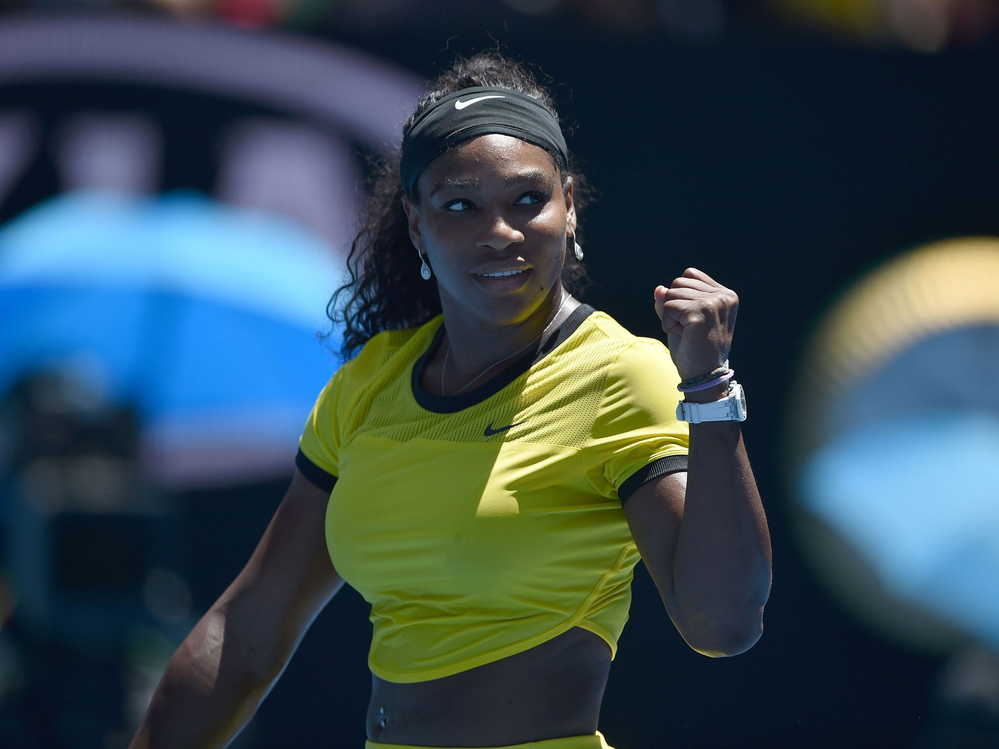 Serena Williams returns to clay in style to once again take up