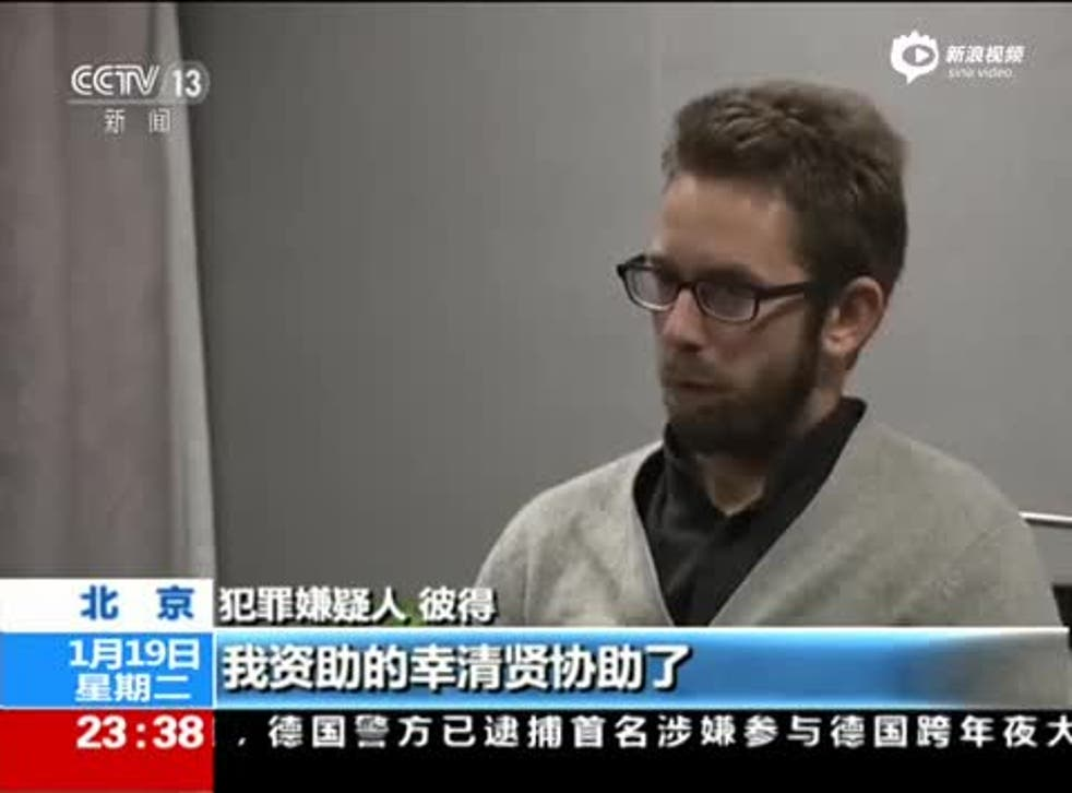 Peter Dahlin appears on China state TV for his confession.