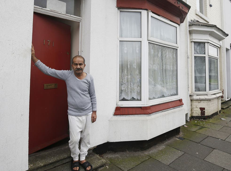 Mr Bayzavi's front door was painted red by Jomast, a subcontractor of services giant G4S