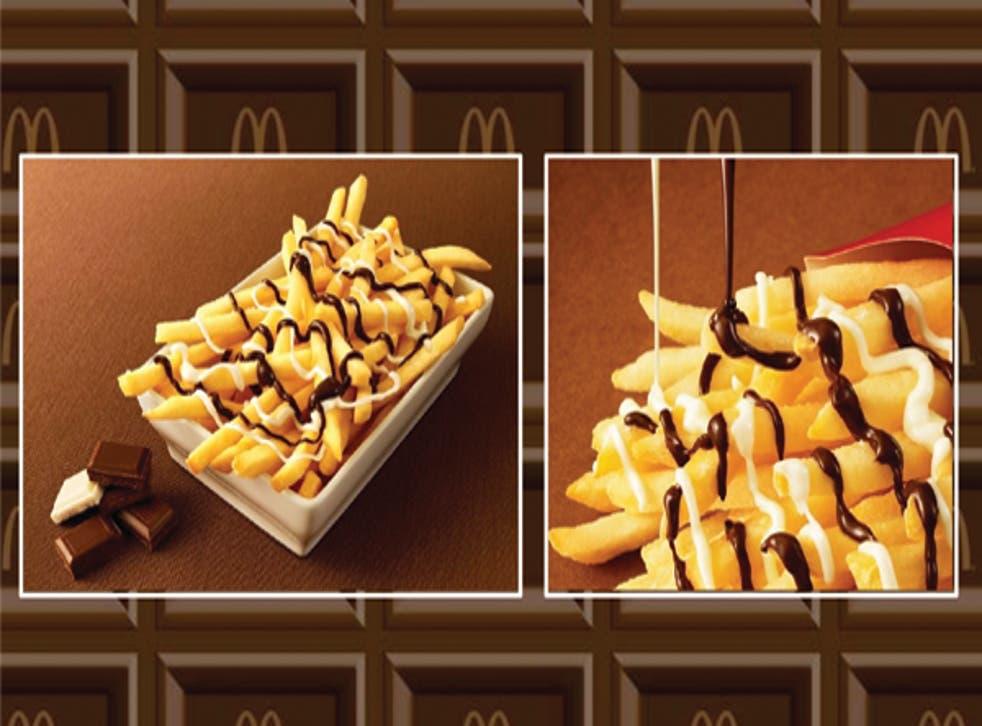 The new 'McChoco Potatoes' dish