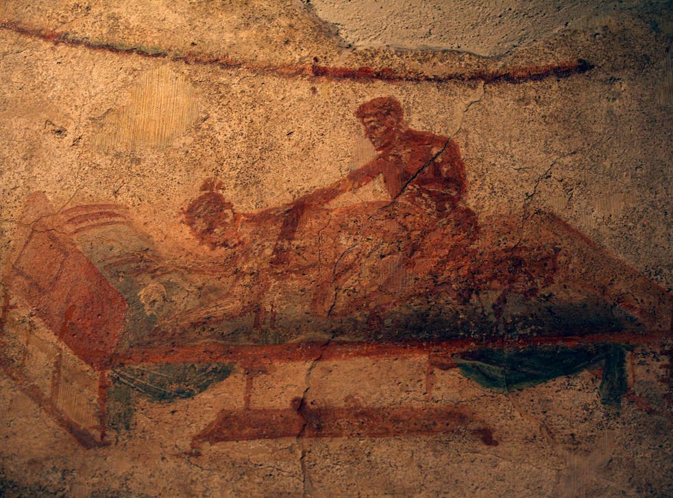 Close encounters: an erotic fresco from the Lupanar, a municipal brothel uncovered at Pompeii