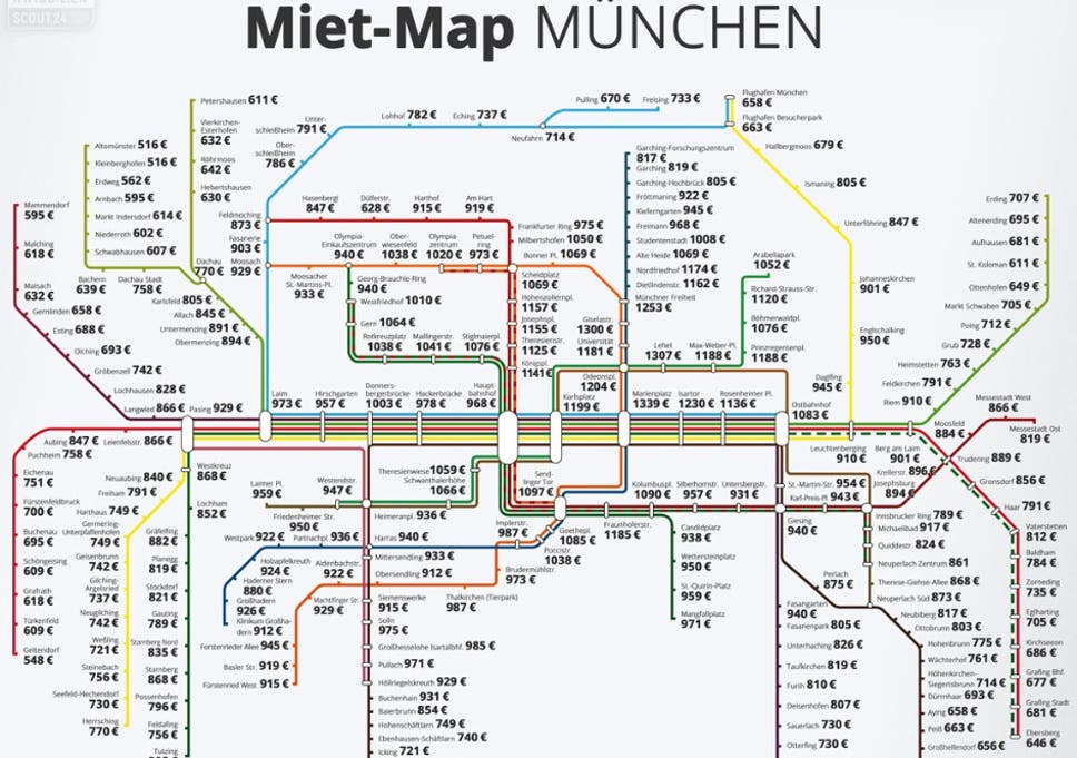 Munich Subway Map.These German Rent Maps Shows Just How Overpriced London Is The