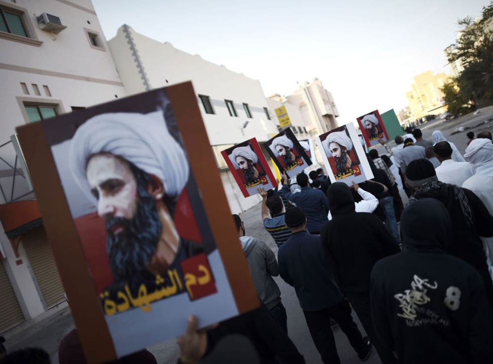 Bahraini Shia protest at Sheikh Nimr's execution