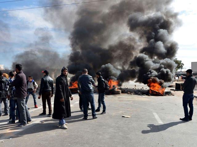 Burning tyres in Ben Guerdane last week