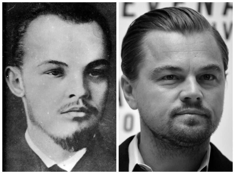 Lenin/Leonardo DiCaprio promoting The Revenant