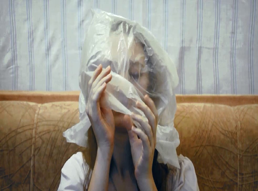 A still from Anastasia Vepreva's 2014 video 'Bag' (Press image)