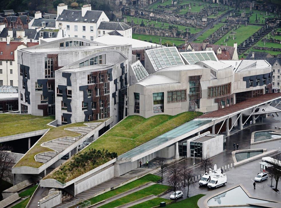The Scottish Parliament at Holyrood