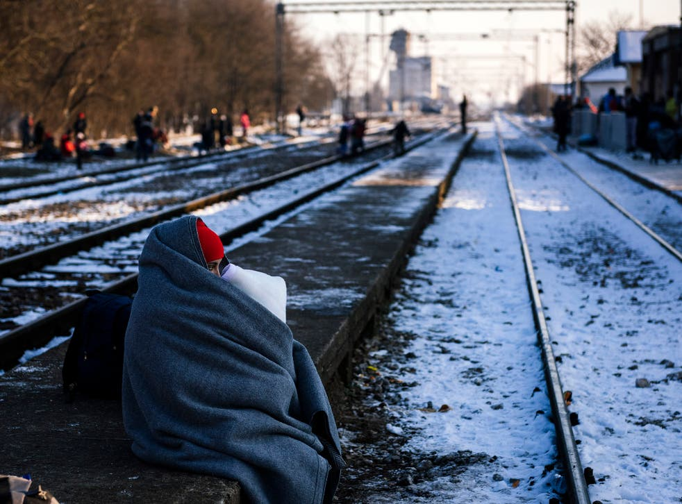 Refugees are continuing to try to get to EU member countries - despite the winter cold
